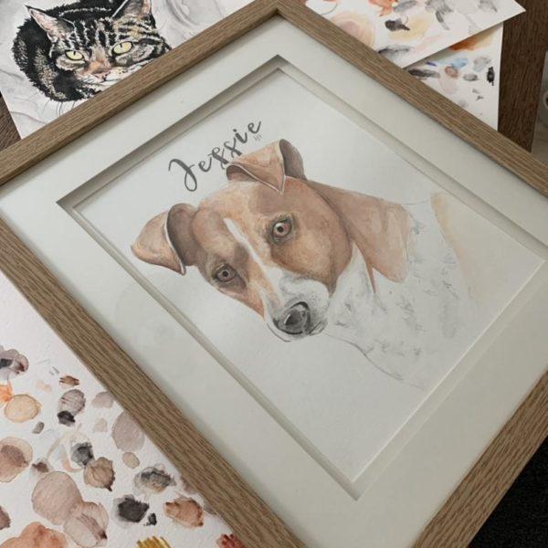 Jessie, Pet Portrait of a Jack Russel