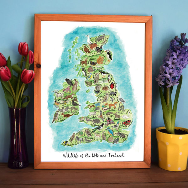 Sophias Illustration, UK and Ireland lllustrated Map Giclee Print