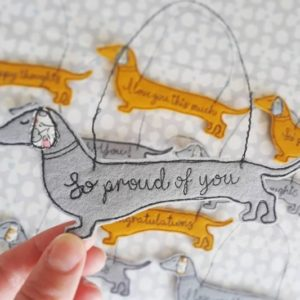 Sausage Dog mini messages of positivity wall hangers