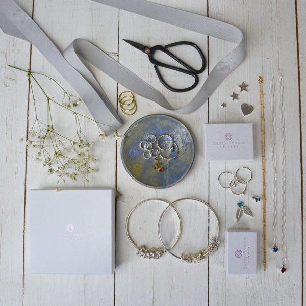 flatlay of jewellery
