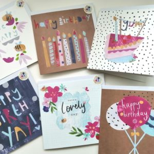 Dolly Pepper Studio, Greeting card, Birthday cards, collection
