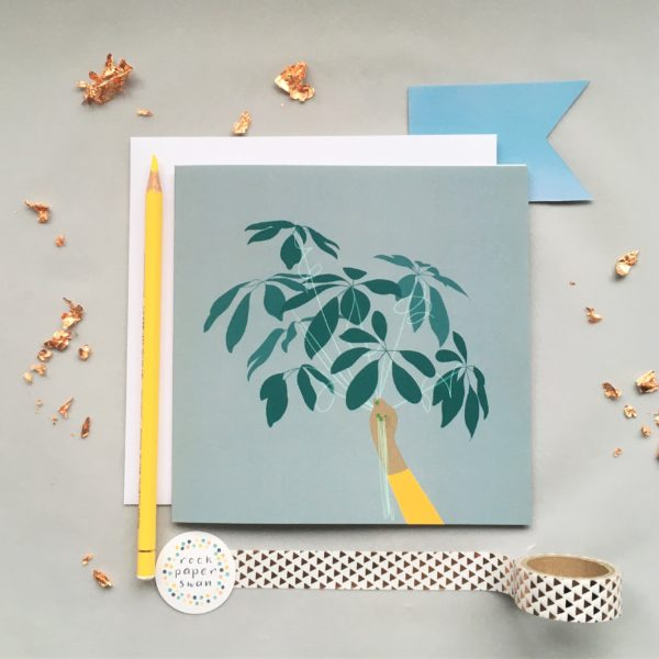 Square card leaf balloons by Rock Paper Swan