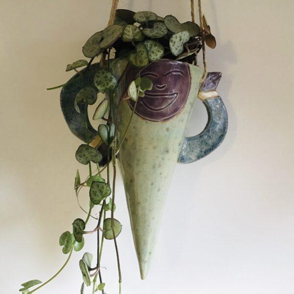 Karin findell ceramics hanging planter