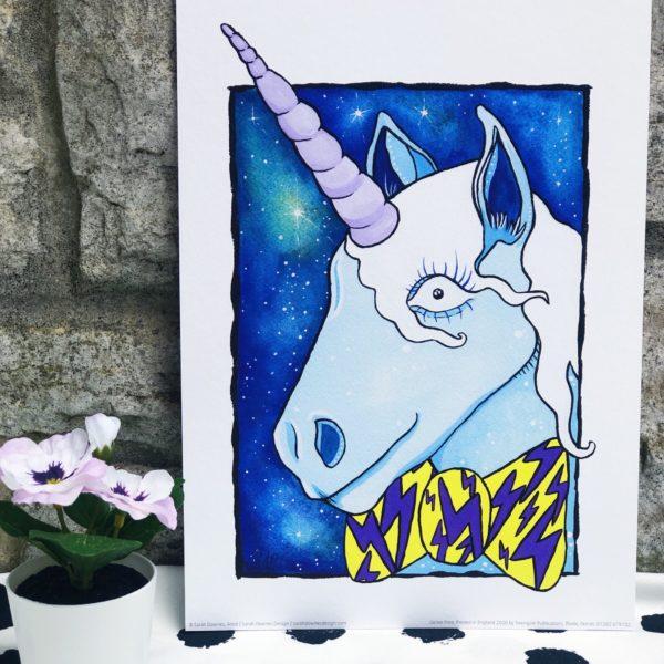 Sarah Downes Design Fine Art Giclee print of unicorn