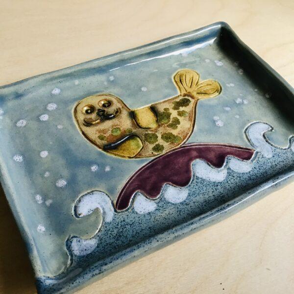 Karin findell ceramics seal basking plate