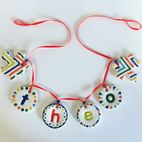 Utterly Pottery Ceramic Name Bunting