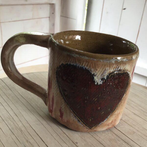 Karin findell ceramics paint splash mug folksy.com