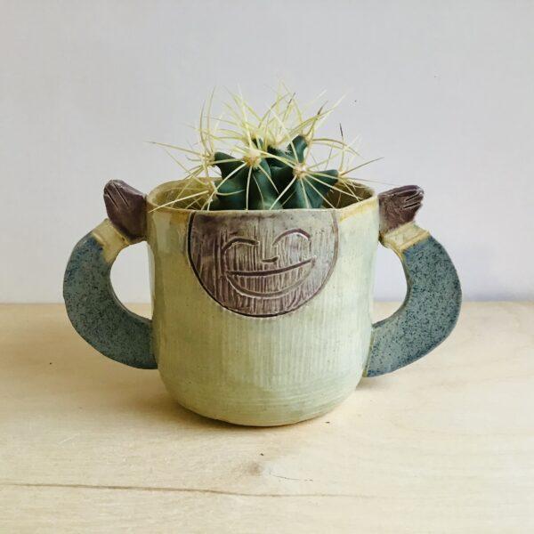 Karin findell ceramics cactus pot