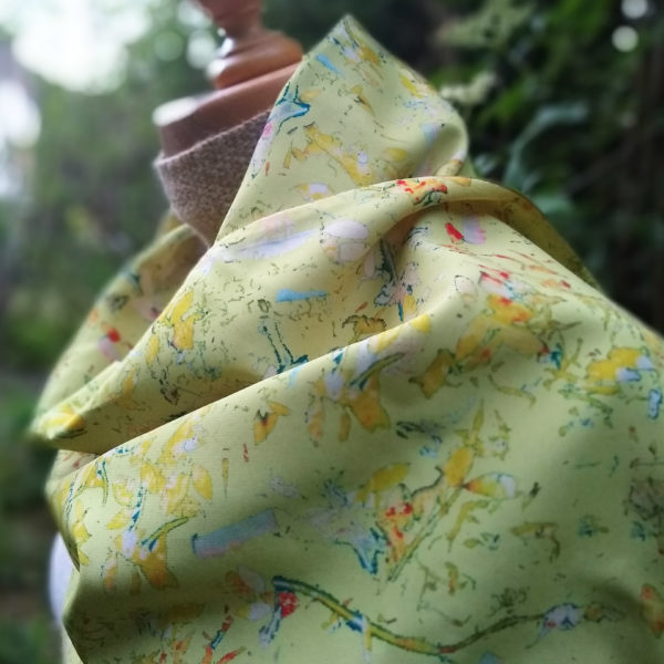 eynonymousdesigns, chartreuse scarf