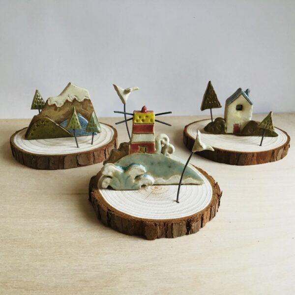 Karin findell ceramics mini landscapes