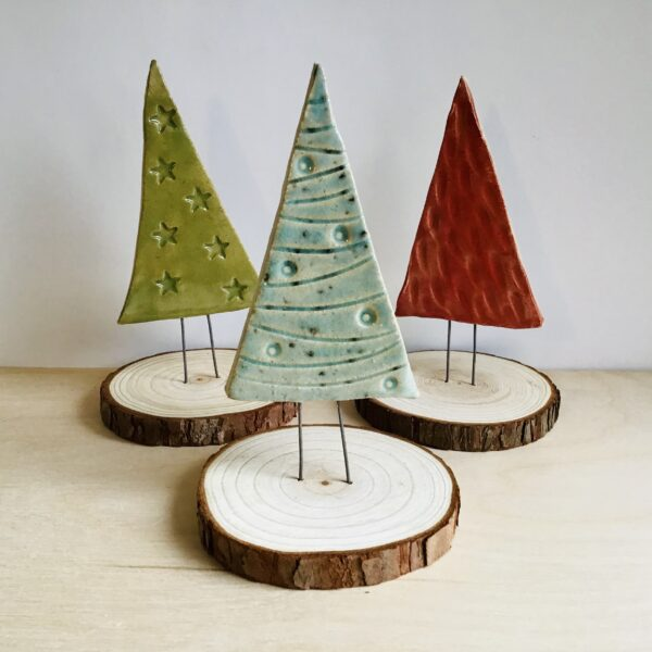 Karinfindellceramics.co.uk Christmas trees folksy