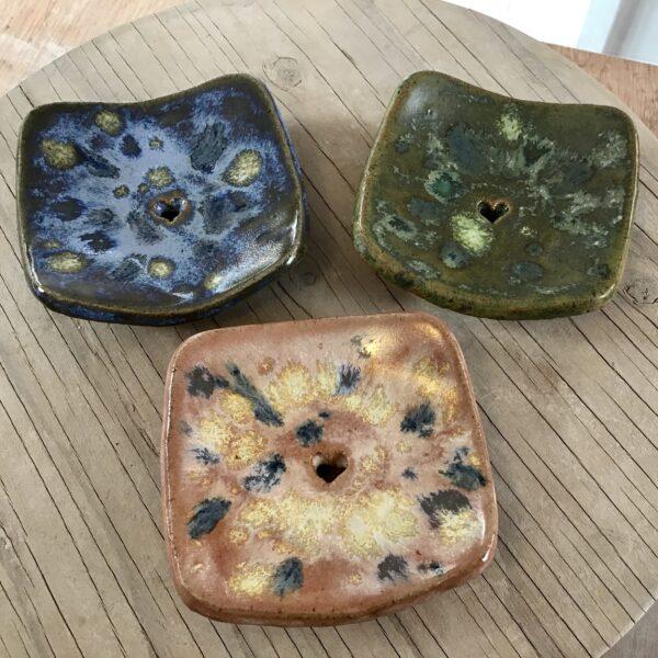 Karin findell ceramics square soap dishes folksy