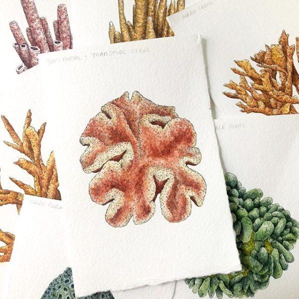 London Makers Market online, coral print
