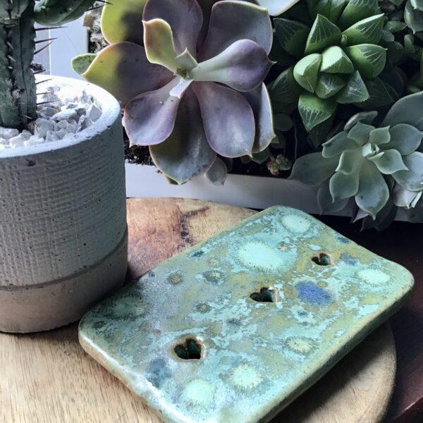 Karin findell ceramics crocodile green soap dish folksy