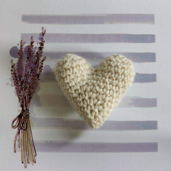 Daisy Dumpling, Crochet Heart Lavender Sachet