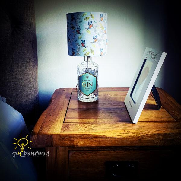 gin_pourium, manchester wild spirit gin bottle lamp