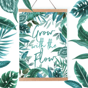 Laura Elizabeth Illustrations, 'Grow with the Flow' A4 Fine Art Print for the wall