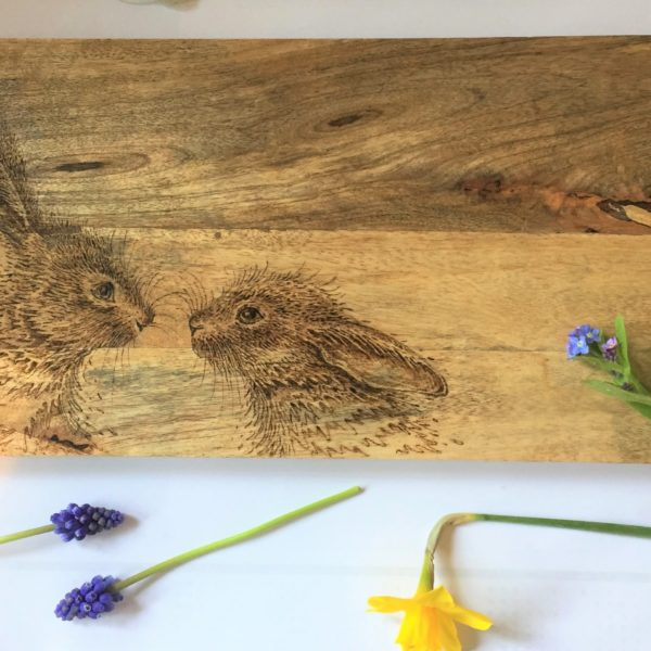 Hand-Decorated Chopping Board