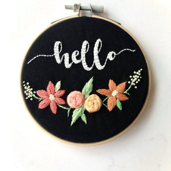 'Hello' Wall Hanging