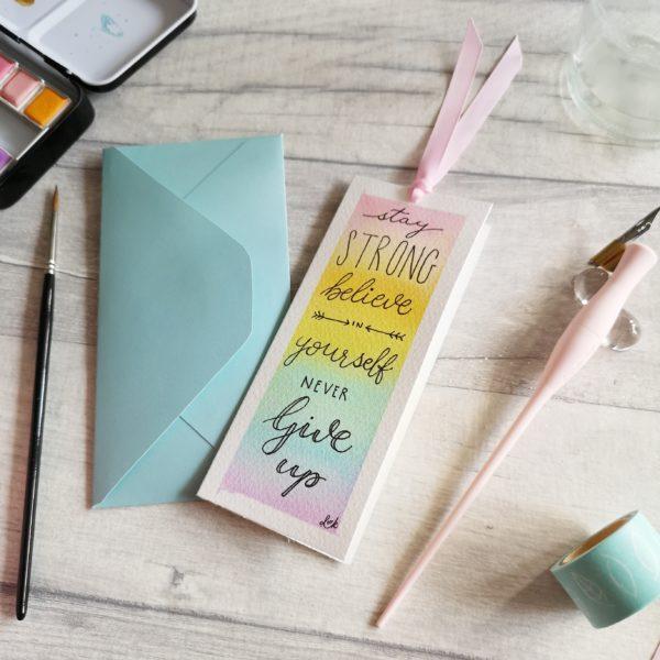 DotK Design, Watercolour Bookmark Card