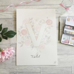 DotK Design, Watercolour Floral Monogram