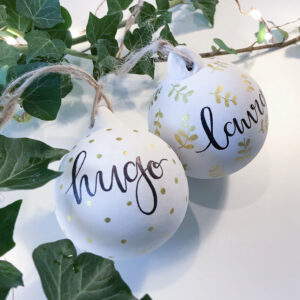 Laura Elizabeth Illustrations - Personalised Ceramic Bauble