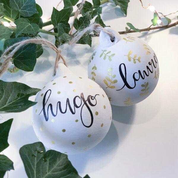 Laura Elizabeth Illustrations - Personalised Ceramic Bauble