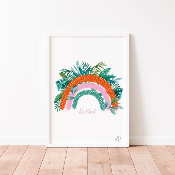 Laura Elizabeth Illustrations, 'Rainbow' Fine Art Print for the wall