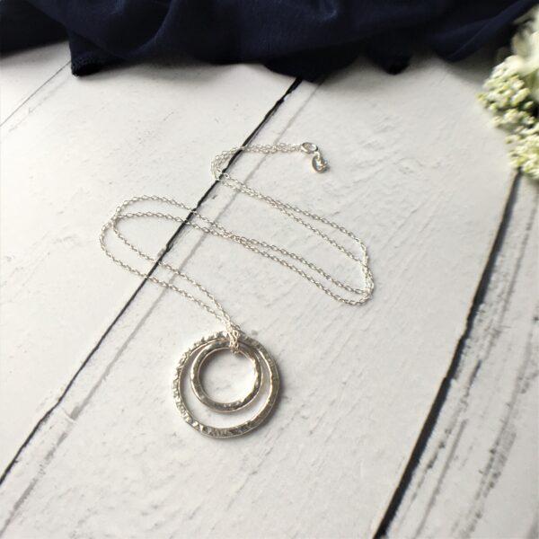 Betty Barnard, double ring pendant