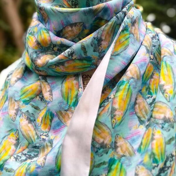 eynonymousdesigns, fish scarf