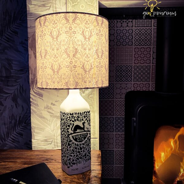 gin_pourium, forest gin bottle lamp
