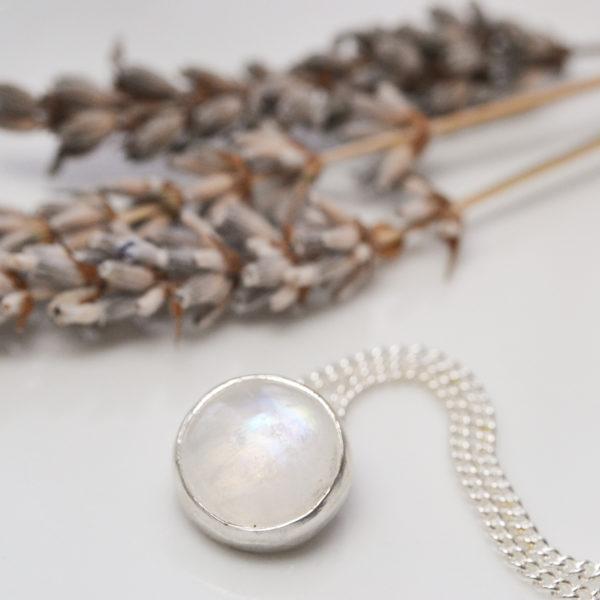 cloudy moonstone pendant
