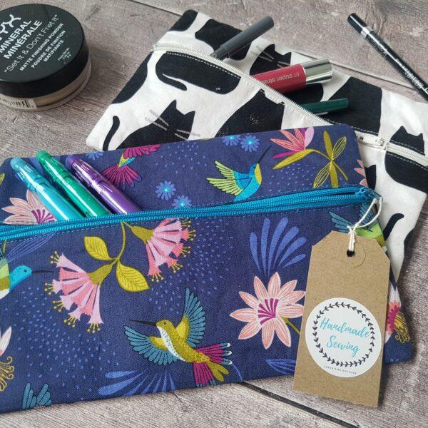 Hummingbird make up bag by Handmade Sewing