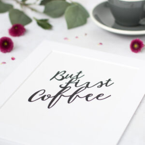 But first coffee hand cut quote by kppapercuts