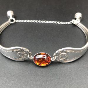 Chris's fork emporium, Amber vintage fork bracelet