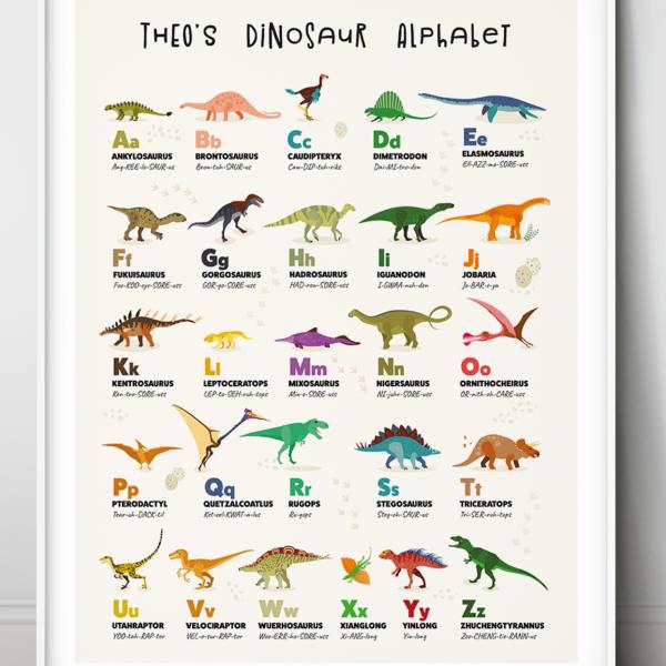 Personalised Dinosaur Alphabet