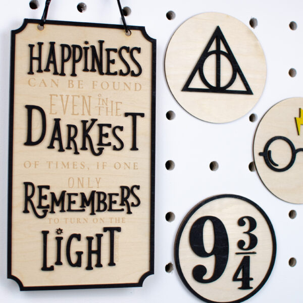 Harry Potter wooden signs