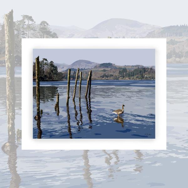 Alison Butler Art, Lake Derwentwater Art Print