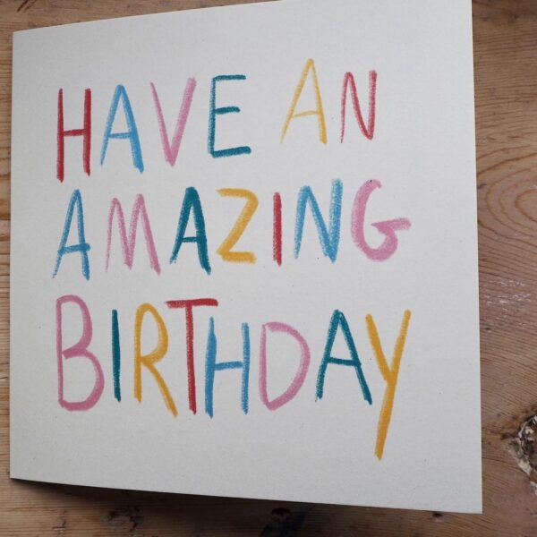 New have an amazing birthday card