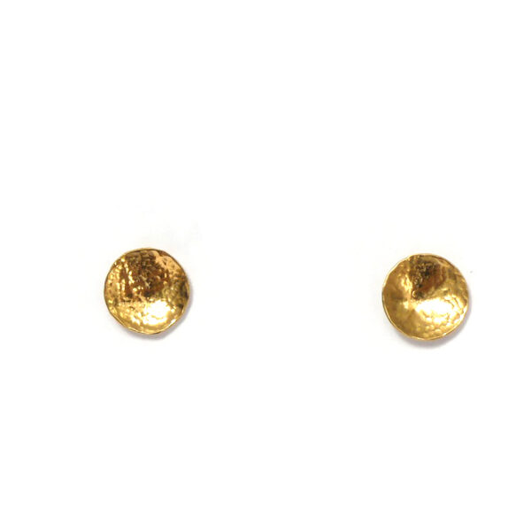 Gold hammered earrings Design Vaults