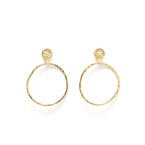 Star Hoop Earrings in Gold & Silver Design Vaults