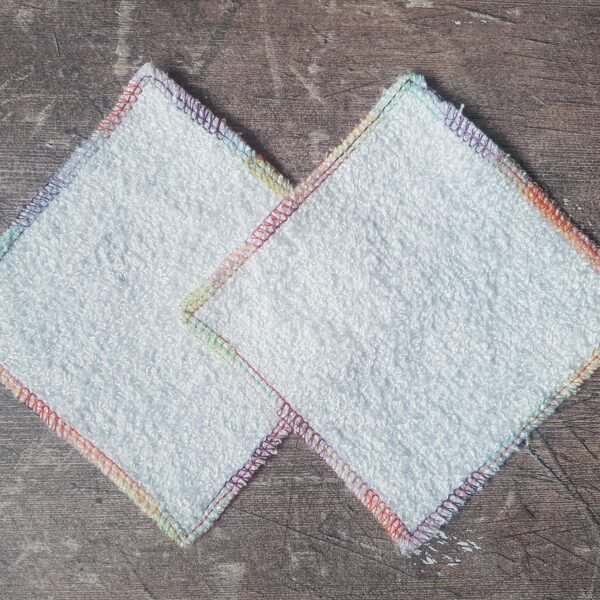 Handmade Sewing, zero waste ecofriendly reusable bamboo & cotton make up remover pads
