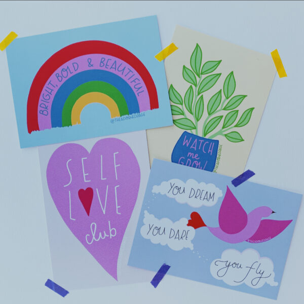 The Adorned Page, Positivity Postcards