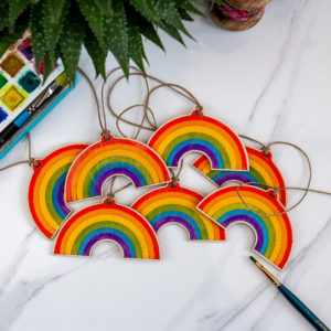 Peach Plot Rainbow Bunting