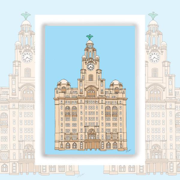 Alison Butler Art The Royal Liver Building Liverpool Art Print