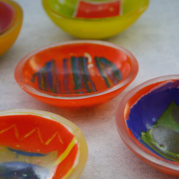 wafer trinket dishes. by bridget marchi glass
