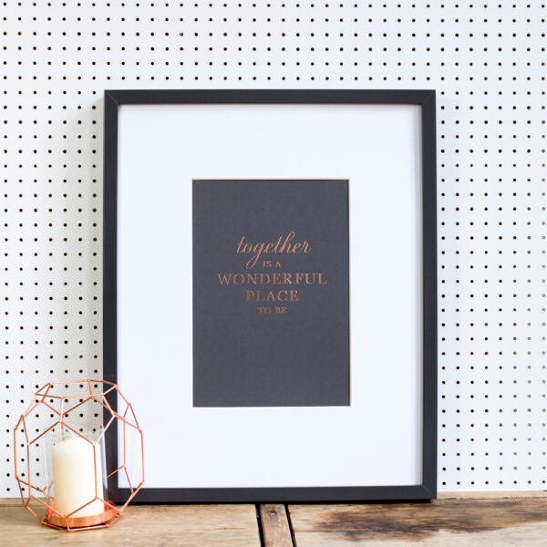 Nothing But Lovely, Together Copper Foil Print