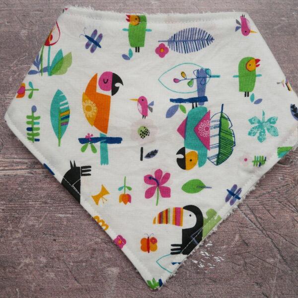 Handmade Sewing, bright, happy, cheerful elephant soft bamboo bandana dribble baby bib