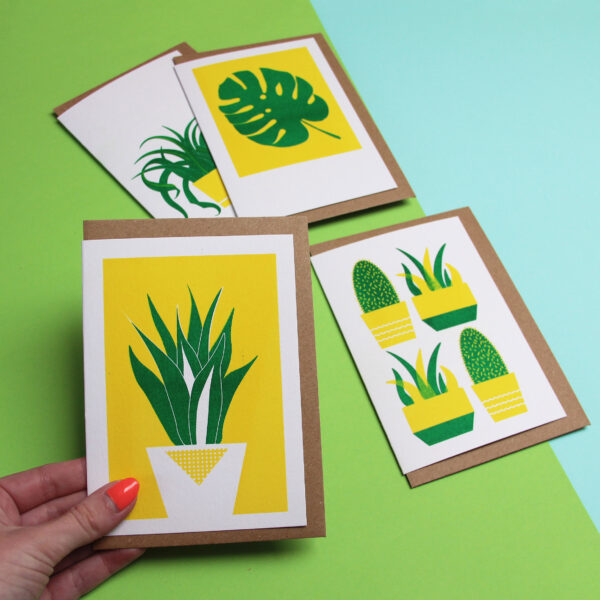 Abby Sumner Design, 4 Pack of Risograph Plant Cards