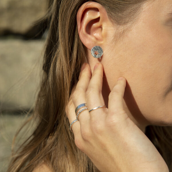 Peek a Boo Star earrings & silver rings Design Vaults